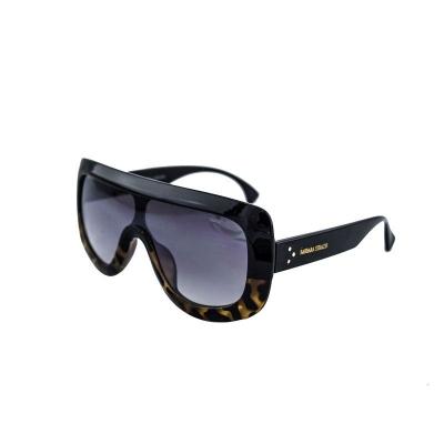 Óculos De Sol Barbara Strauss Máscara  Em Acetato Marrom E Tartaruga
