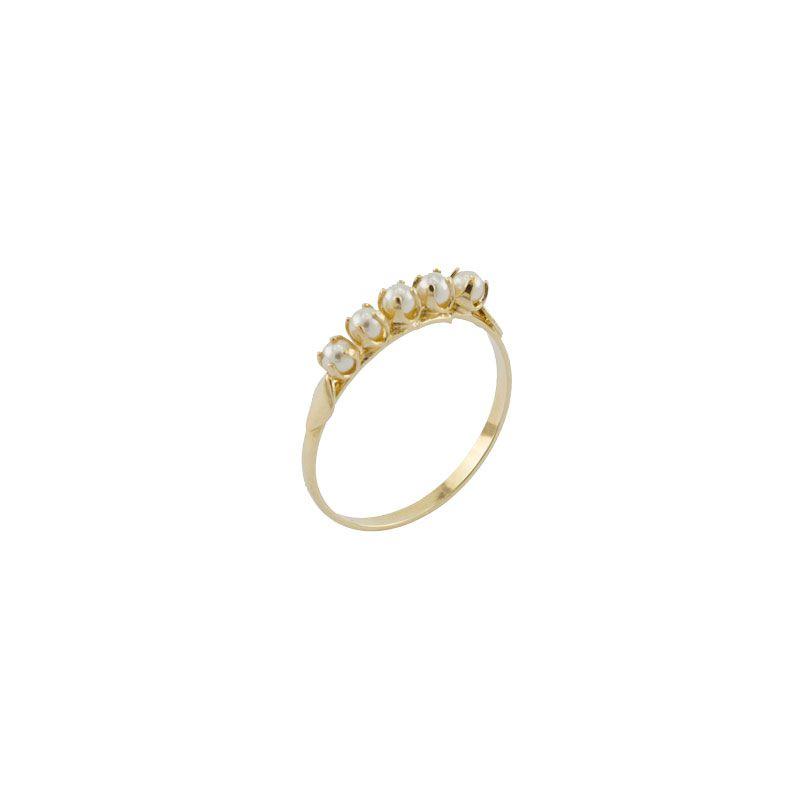 Anel Barbara Strauss Semi Joia Liz Em Pérola Lalique