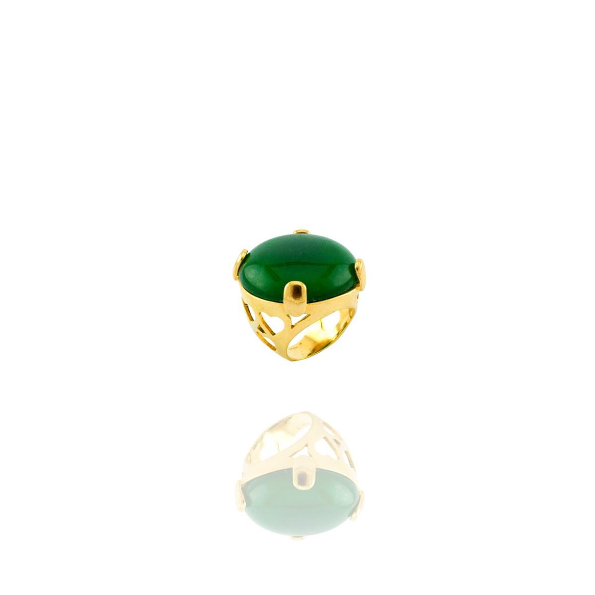 Anel Barbara Strauss Star Pedra Natural Quartzo Verde