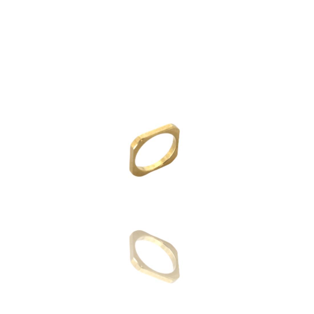 Anel Dourado Falange Metal Banhado a Ouro Barbara Strauss