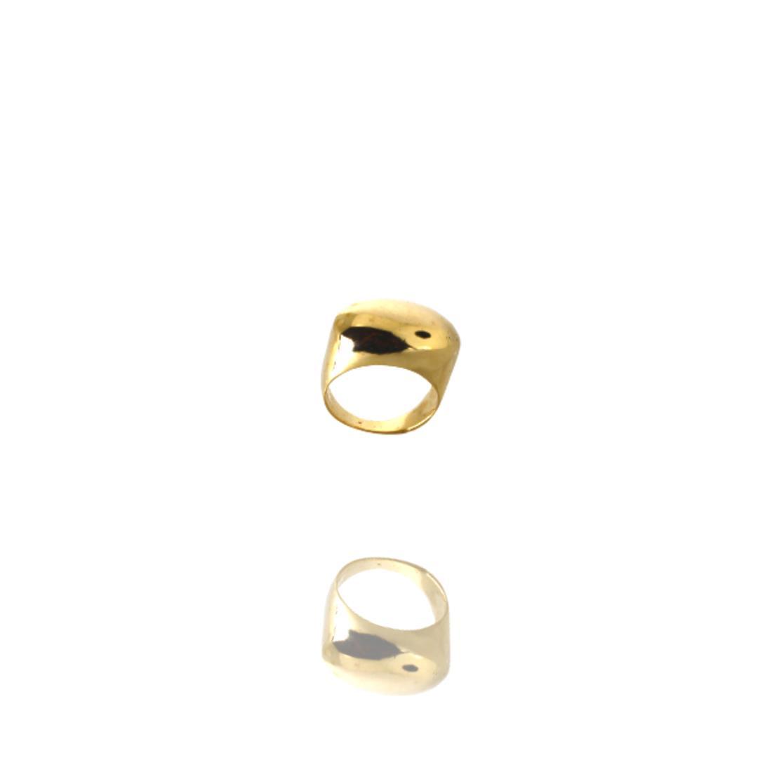 Anel Dourado Garden Metal Banhado a Ouro Barbara Strauss