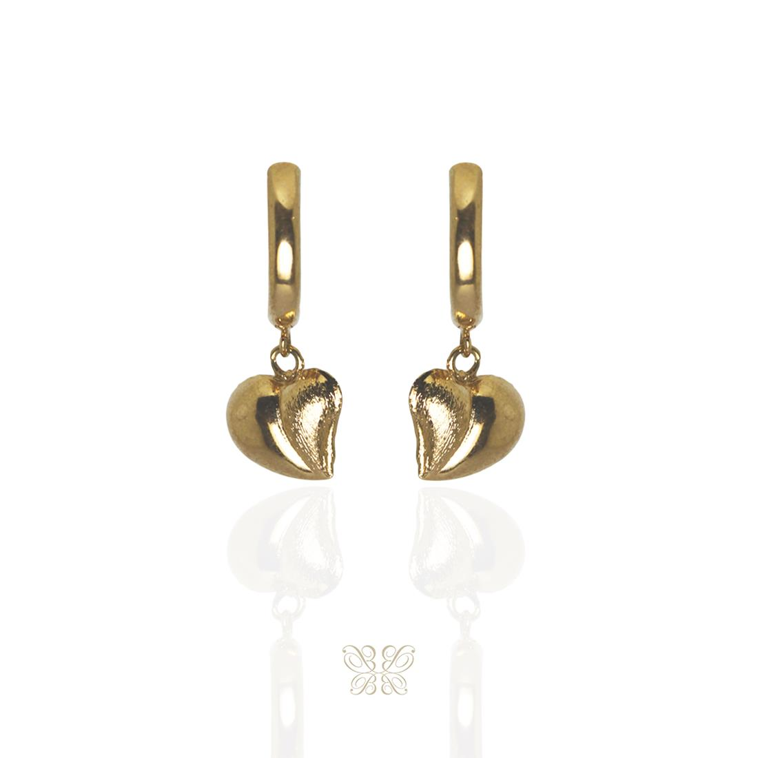 Brinco Argola Dourado Metal Banhado a Ouro Barbara Strauss