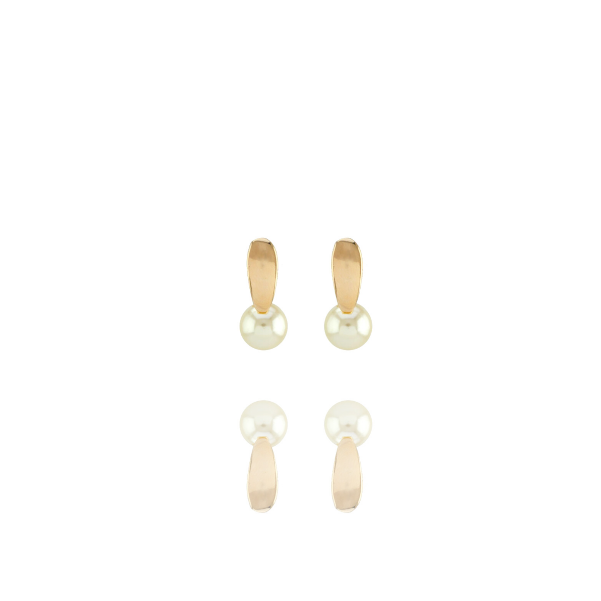 Brinco Barbara Strauss Pireu Em Pérola Lalique, Revestido Em Ouro 18K
