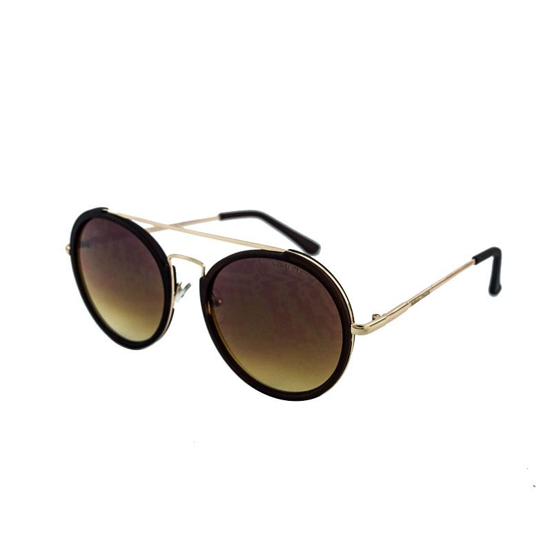 Óculos De Sol Barbara Strauss Blair Em Acetato Marron
