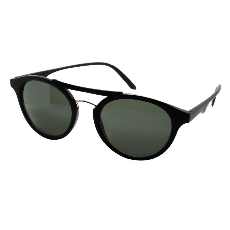 Óculos De Sol Barbara Strauss Lenon Em Acetato Preto