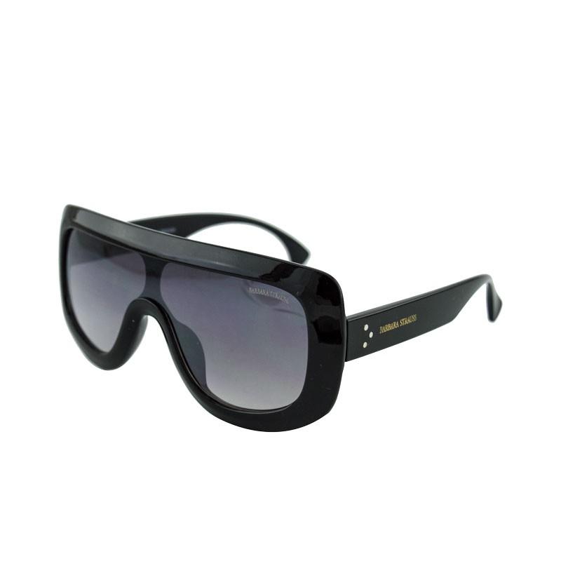 Óculos De Sol Barbara Strauss Máscara  Em Acetato Preto