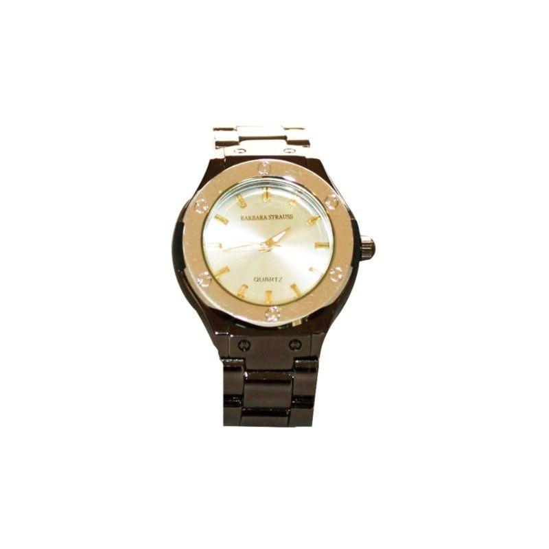 Relógio Barbara Strauss Carter Em Aço E Cristal Mineral