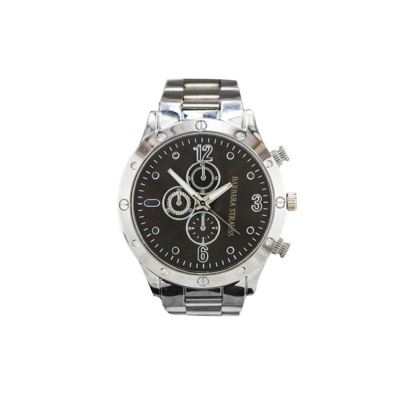 Relógio Barbara Strauss Sport Em Aço E Cristal Mineral