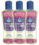 Kit Álcool Gel 70% Kpriche - 3x140mL