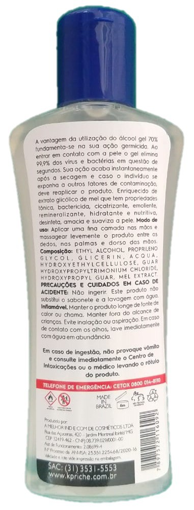 Kit Álcool Gel 70% Kpriche - 15x140mL