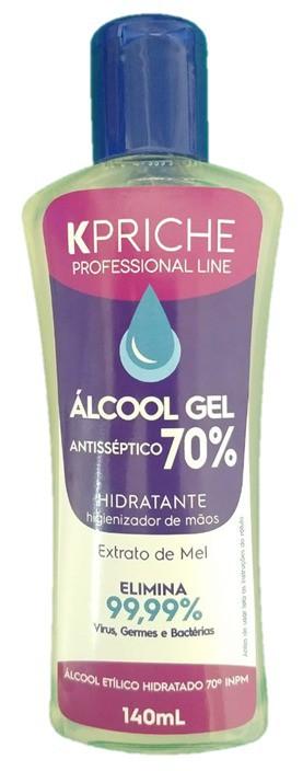 Kit Álcool Gel 70% Kpriche - 3x140mL