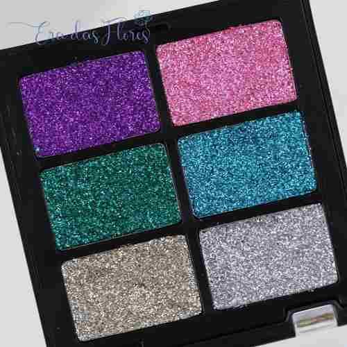 Paleta De Glitter Maquiagem Zanphy 6 Cores