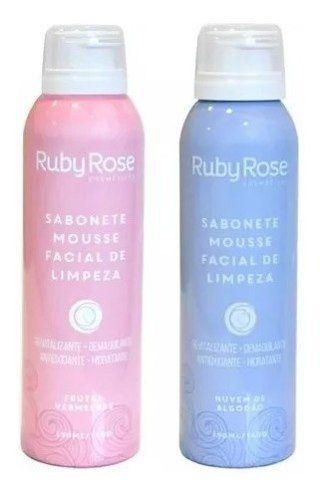 Kit 2 Sabonete Mousse Facial De Limpeza Ruby Rose