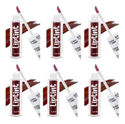 Kit Com 6 Liptint Zanphy Batons Atacado Lip Tint + Brinde