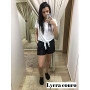 Bermuda Guiomar Lycra Couro