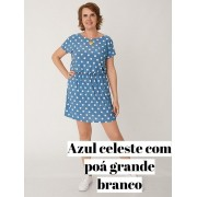 Vestido Dani Curto Poá