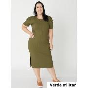 Vestido Midi Carol Canelado