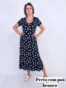 Vestido Midi Elizabeth Viscolycra Poá