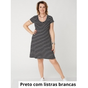 Vestido Sara Listras M.C Viscolycra Listras