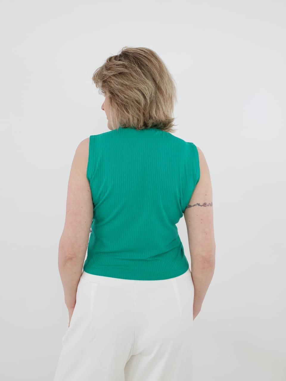 Blusa Cropped Regata Canelado