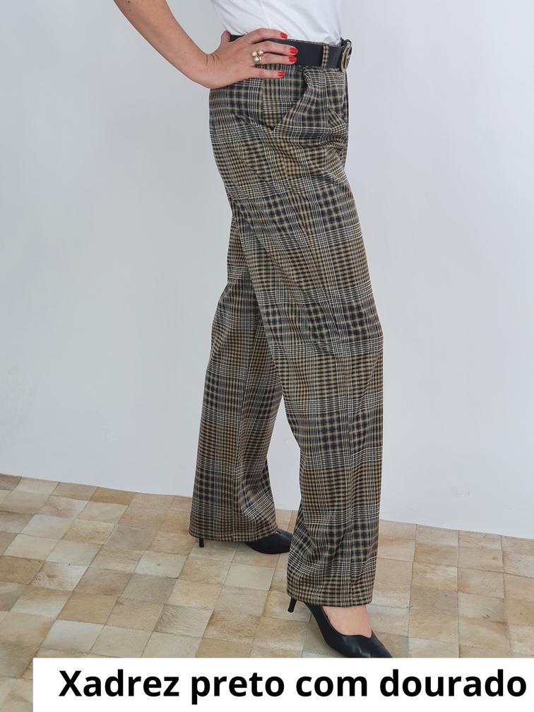 Calça Pantalona Ceres Jacquard