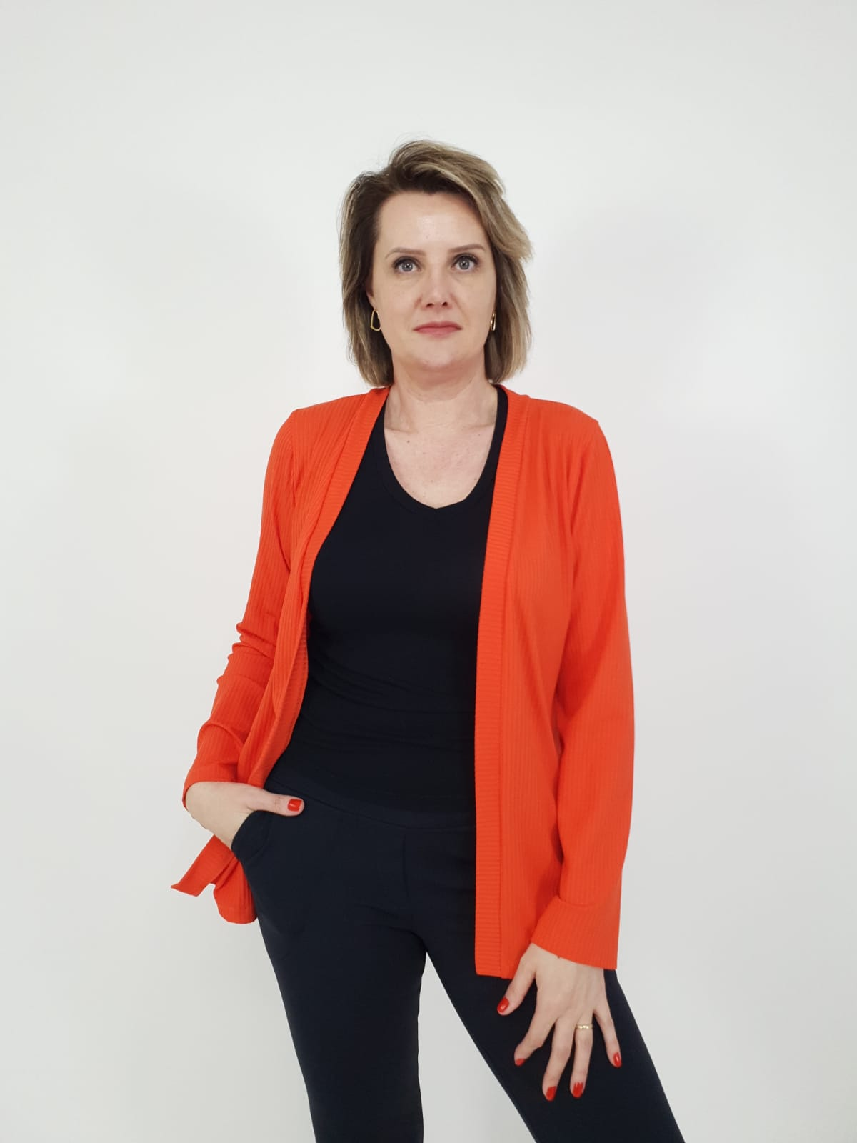 Cardigan Fernanda Canelado