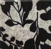 Estampado cinza com folhas pretas