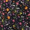 Floral com preto - Viscolycra