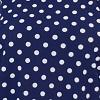 Azul marinho com poá branco - Liganete