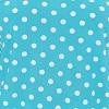 Azul celeste com poá branco - Liganete