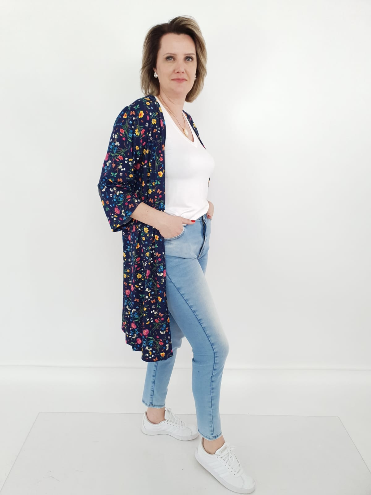 Kimono Ester Viscolycra Estampado