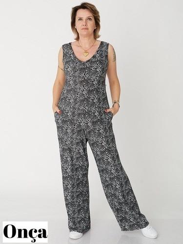 Macacão Pantalona em Liganete