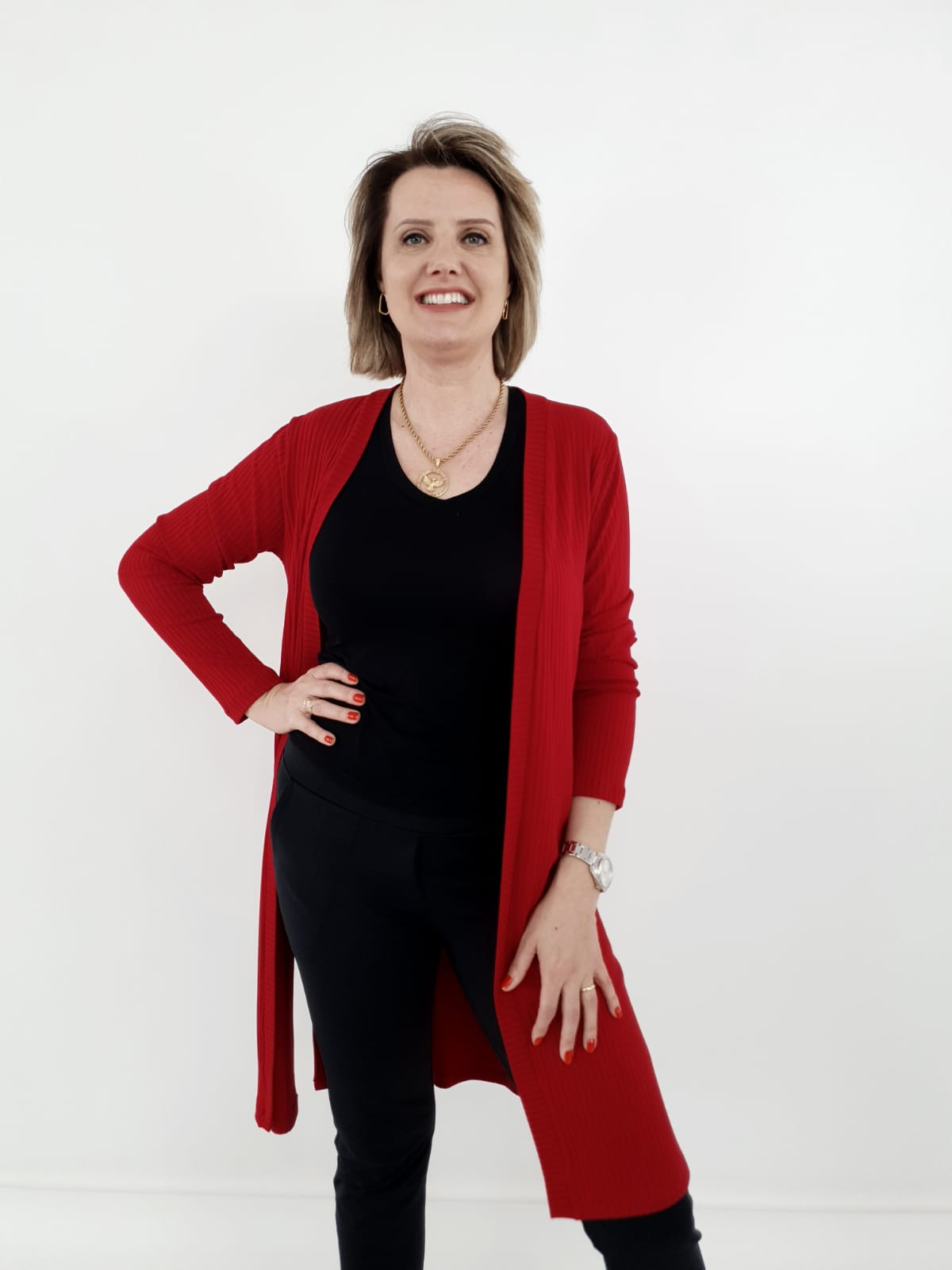 Maxi Cardigan Silvana Canelado