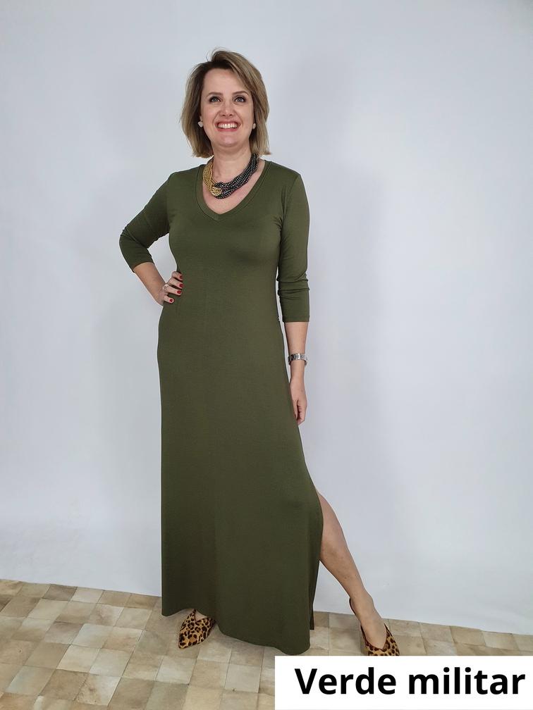 Vestido Longo Lilian M.M Viscolycra