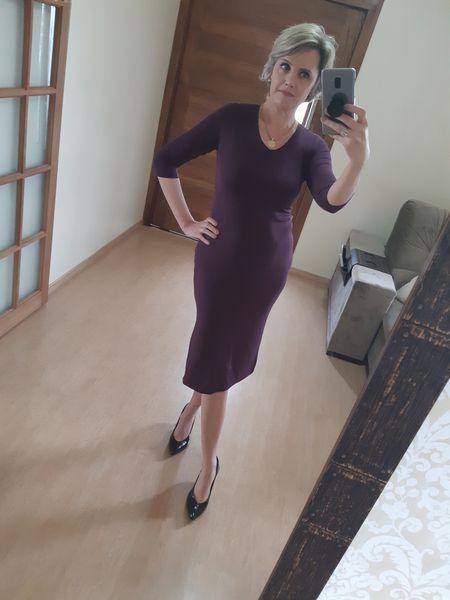 Vestido Midi Canelado M.M