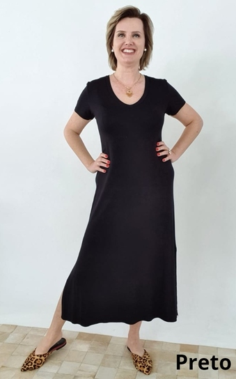 Vestido Midi Elizabeth Viscolycra