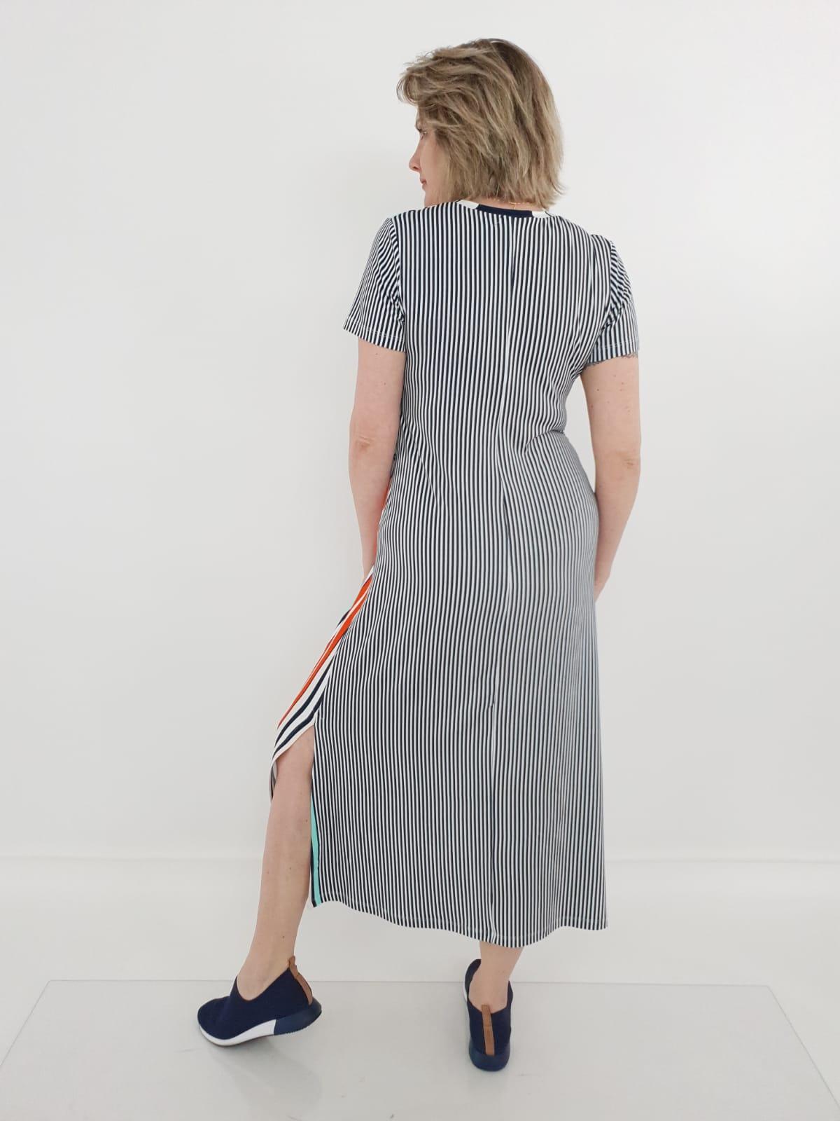 Vestido Midi Elizabeth Viscolycra Listras