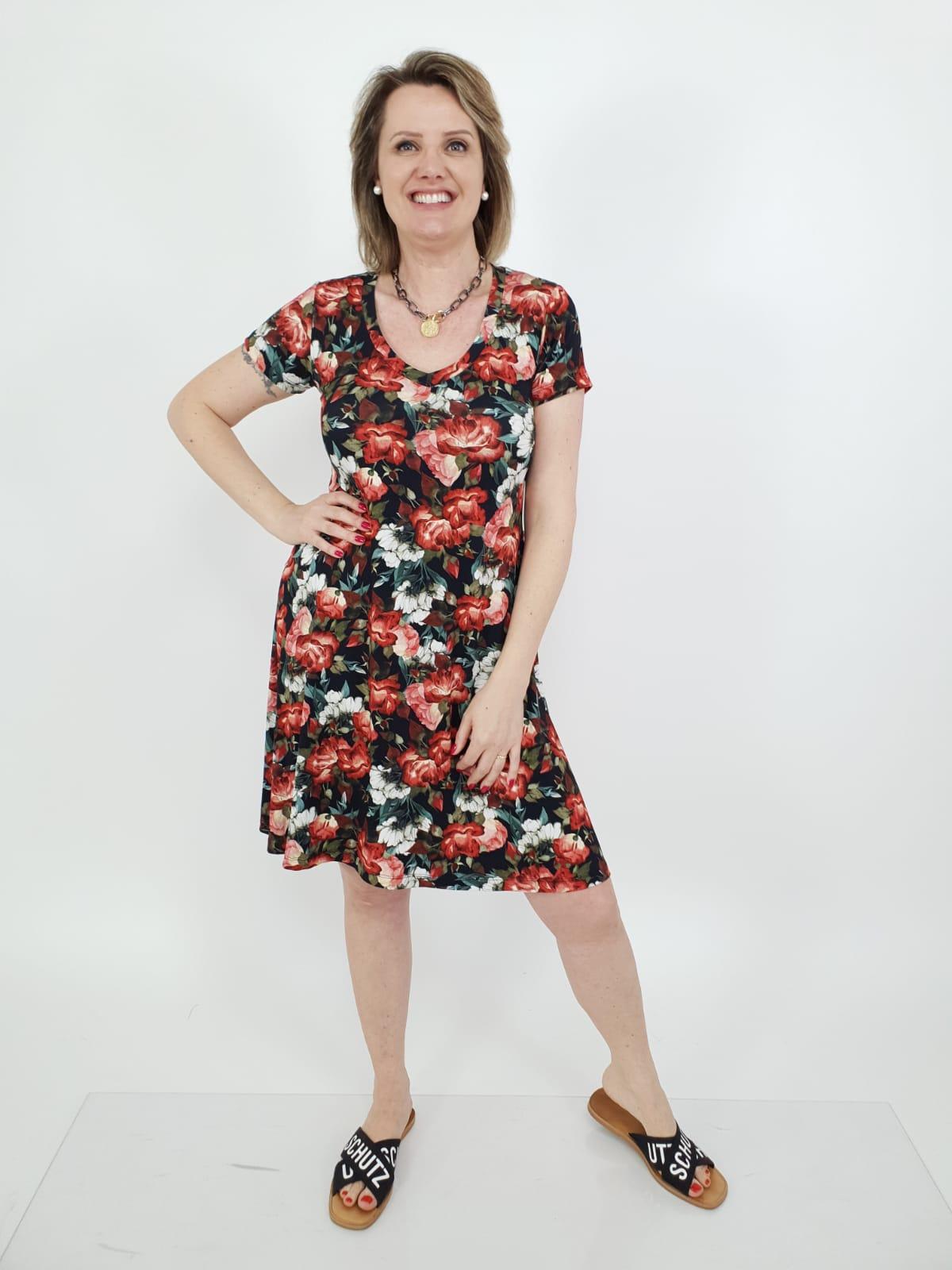Vestido Sara M.C Viscolycra Estampado