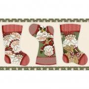 Painel de Natal - Estampa Botas de Natal - 3 Peças