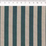Tecido de Linho com Algodão  - Listras Azul - Coleção Le Petit  - Preço de 50 cm X 1,40 cm