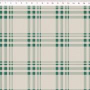 Tecido de Linho com Algodão  - Xadrez Verde - Coleção Le Petit  - Preço de 50 cm X 1,40 cm