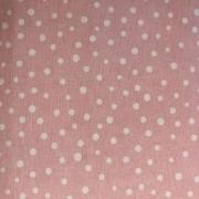 Tecido de Linho Poá  - Fundo Rosa - Preço de 50 cm X 1,40 cm