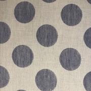 Tecido de Linho Poá Grande - Fundo Bege - Preço de 50 cm X 1,40 cm