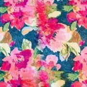 Tecido Exclusivo Bellopano Floral  - Dublado - 50 cm x 1,50 cm