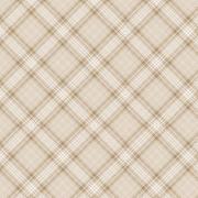 Tecido Tricoline Digital Cream Plaid - Fundo Nude - Coleção Anita Catita - Red Blossom - Preço de 50 cm X 1,50 cm