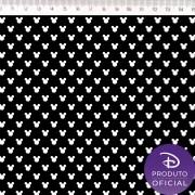 Tecido Tricoline Estampa Mickey Mouse Small   - Fundo Preto - 50cm x 150 cm