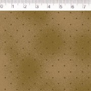 Tecido Tricoline Estampa Poa Tabaco - Fundo Bege - Coleção Millyta - La Vie En Rose - Preço de 50 cm X 1,50 cm