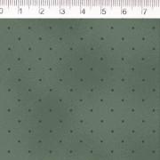 Tecido Tricoline Estampa Poa Verde Escuro - Fundo Verde - Coleção Millyta - La Vie En Rose - Preço de 50 cm X 1,50 cm