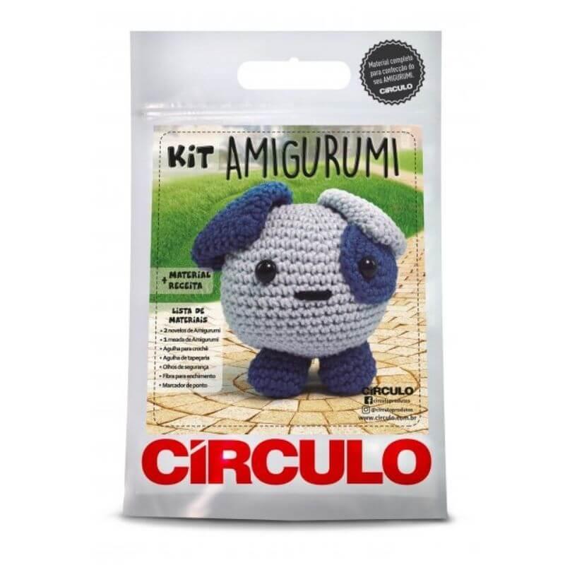 Kit Amigurumi - Cachorrinho  - Coleção Bicho Bola