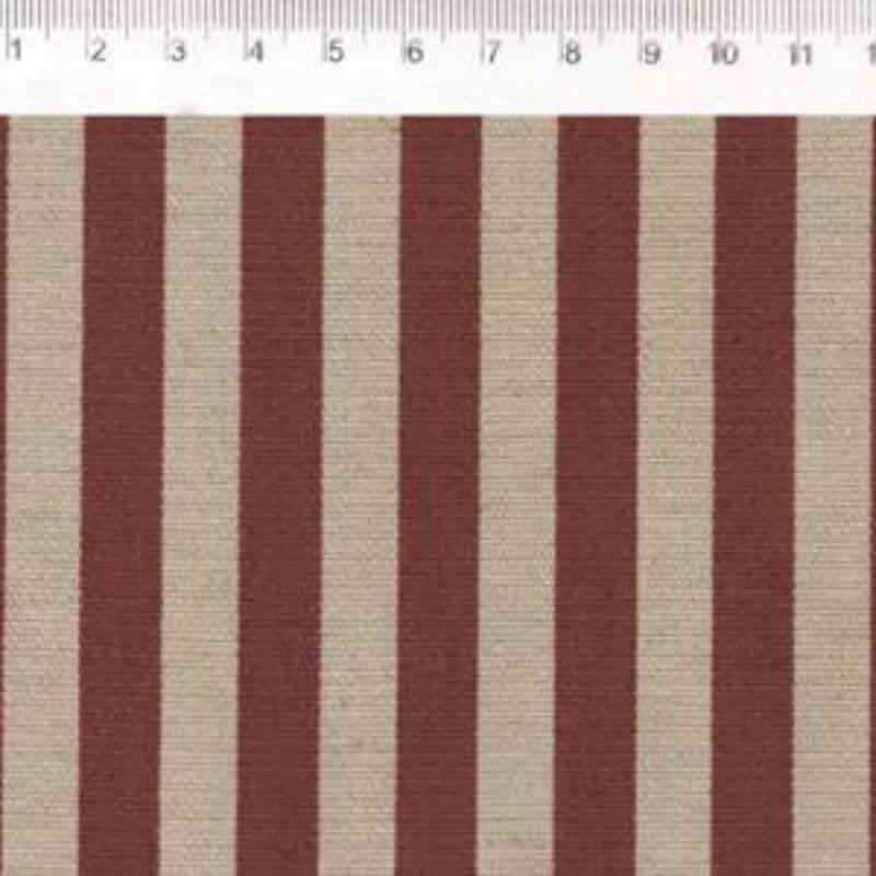 Tecido de Linho com Algodão  - Listras Bordô - Coleção Le Petit  - Preço de 50 cm X 1,40 cm